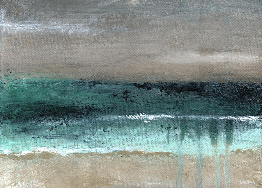 Beach Mixed Media - After The Storm 2- Abstract Beach Landscape By Linda Woods by Linda Woods