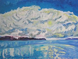 After The Storm Painting by Alfred Muma
