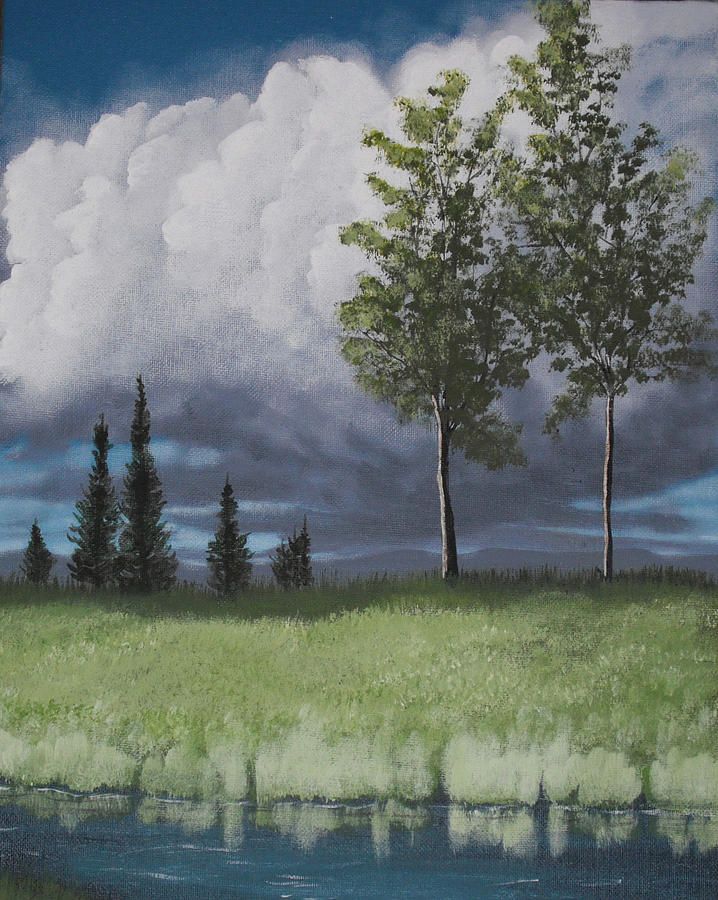 Landscape Painting - After The Storm by Candace Shockley