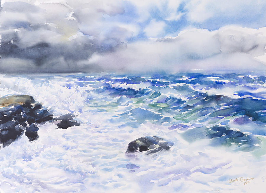 Seascape Painting - After The Storm by Jack Tzekov