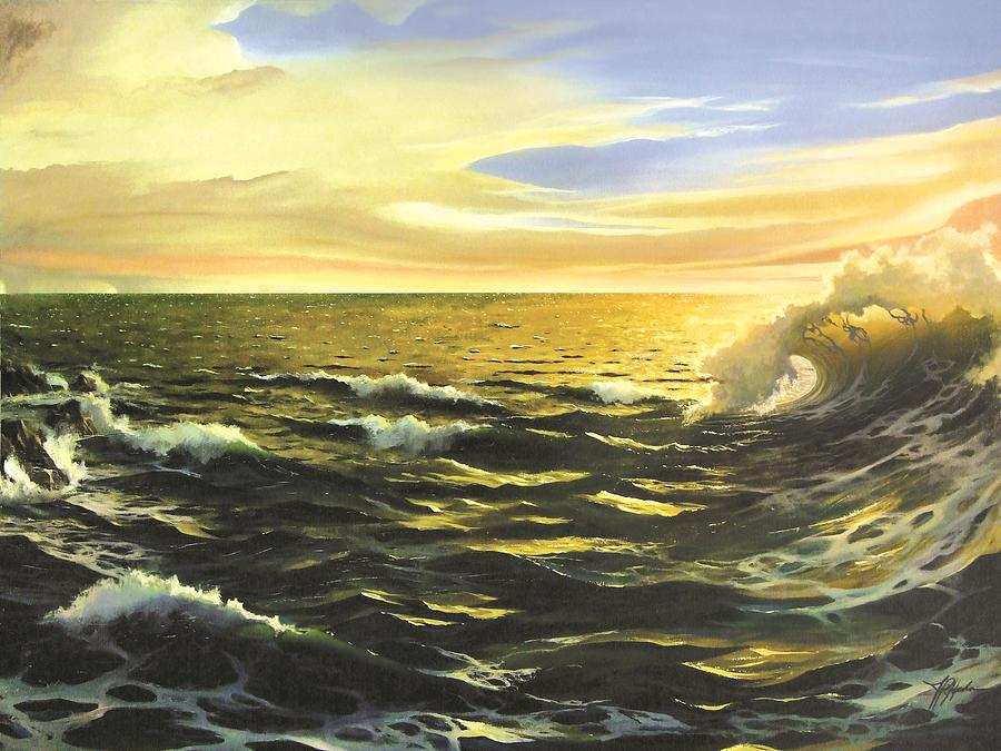 Afternoon Painting - After The Storm by James R Hahn