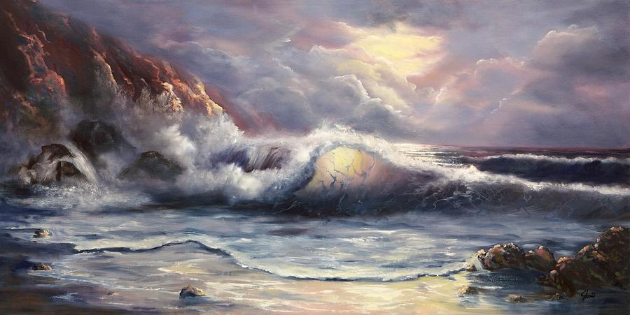 Ocean Painting - After The Storm by Joni McPherson