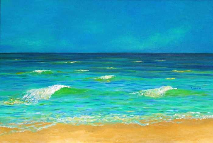 Beach Painting - After The Storm by Nataliel L