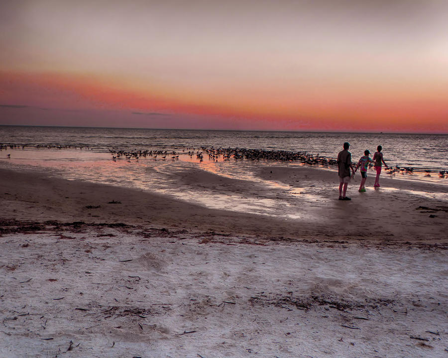 Sunset Photograph - After The Sunset by Rosalie Scanlon
