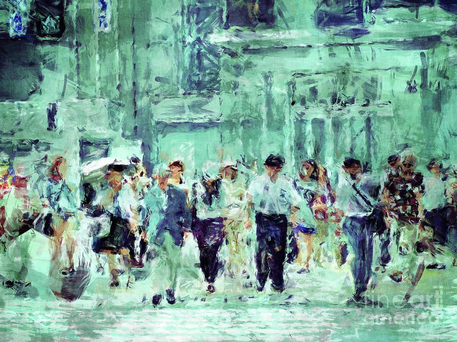 Digital Painting Digital Art - After Work by Phil Perkins