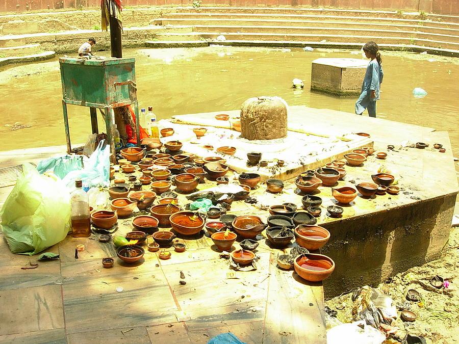 Incredible India Photograph - After Worship2 by Karuna Ahluwalia