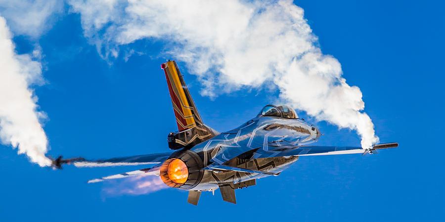 Aircraft Photograph - Afterburn by Ian Schofield