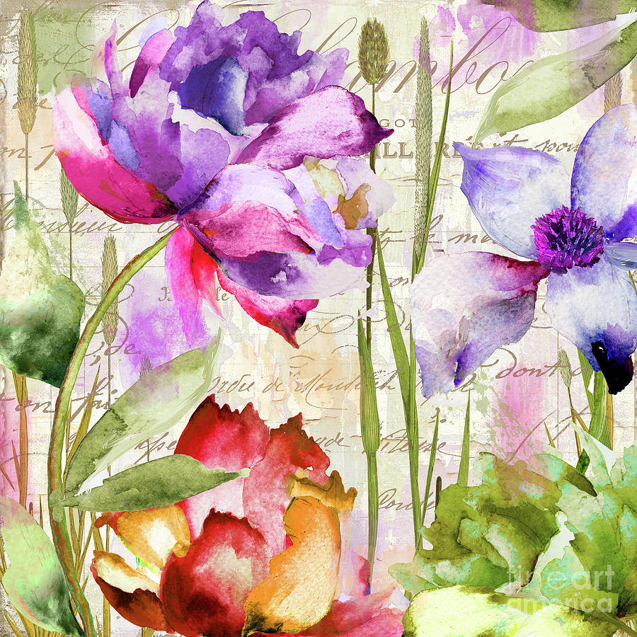 Peonies Painting - Afterglow I by Mindy Sommers