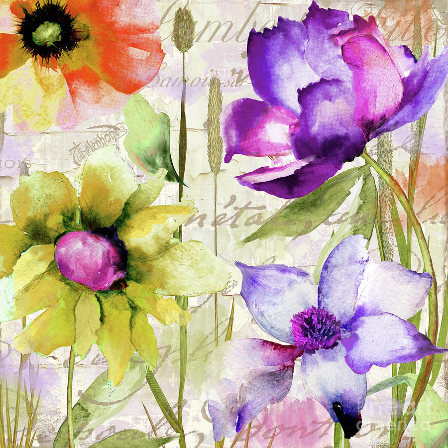 Peonies Painting - Afterglow II by Mindy Sommers
