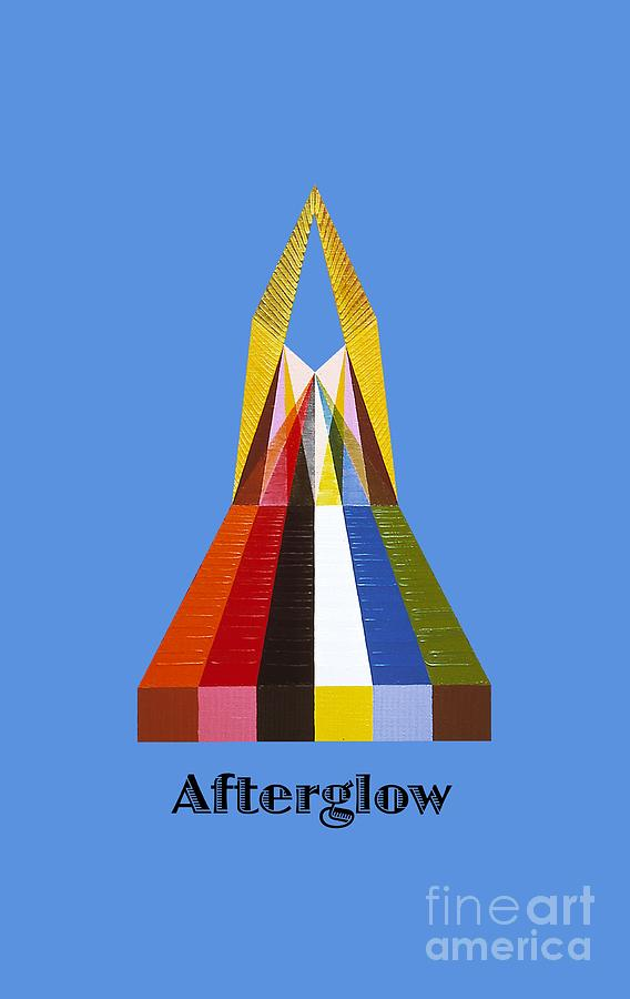Perspectivism Painting - Afterglow text by Michael Bellon