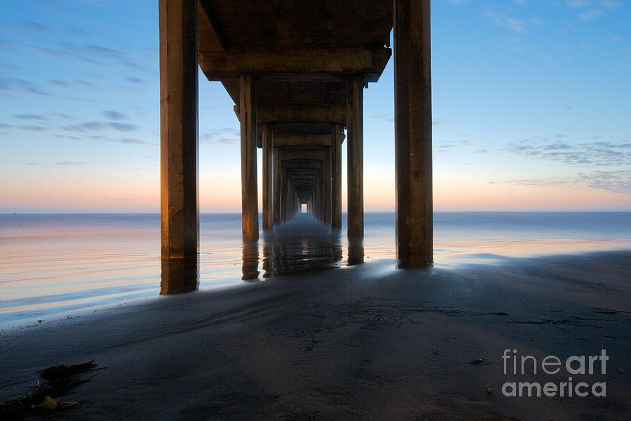 Scripps Pier Photograph - Aftermath by Caroline  Jeanine