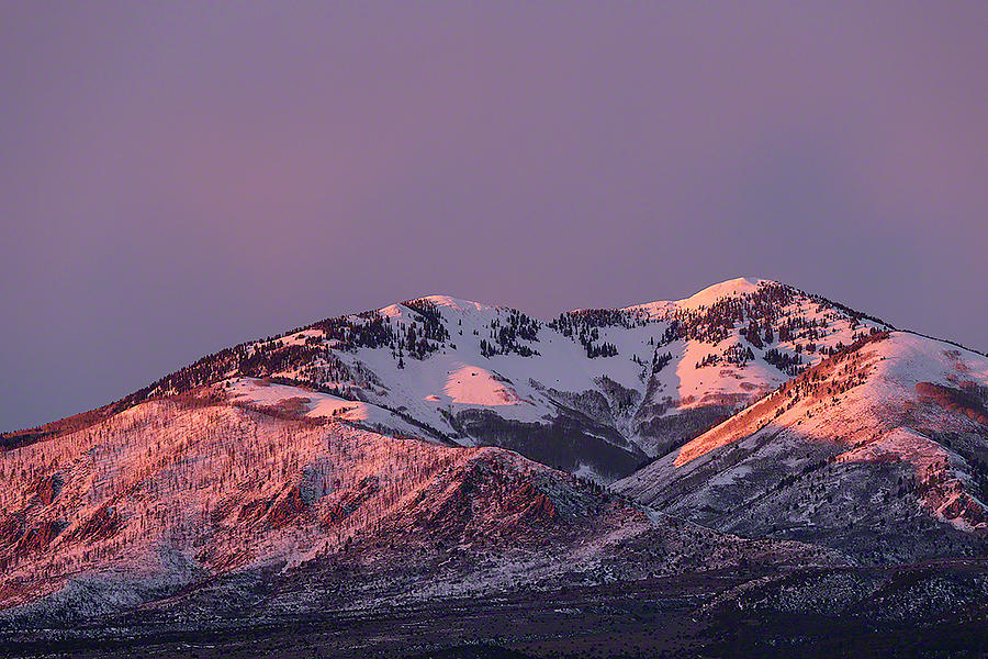 AFTERNOON ALPENGLOW ON SOUTH MOUNTAIN by Deborah Hughes