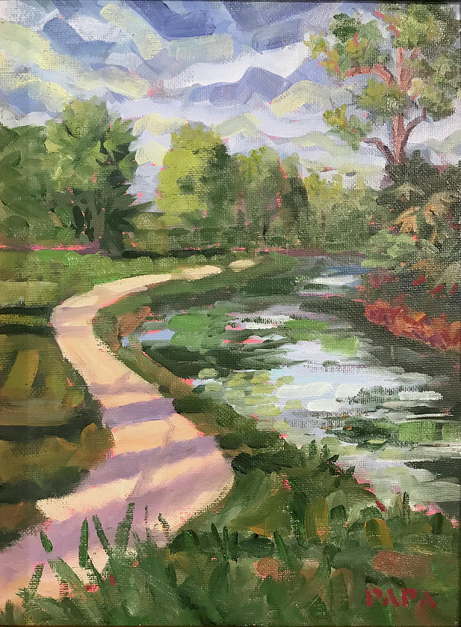 Everglades Painting - Afternoon at Riverbend by Ralph Papa