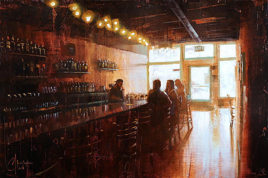christopher painting afternoon at the pub meadowlark kitchen in denver by christopher clark - Meadowlark Kitchen