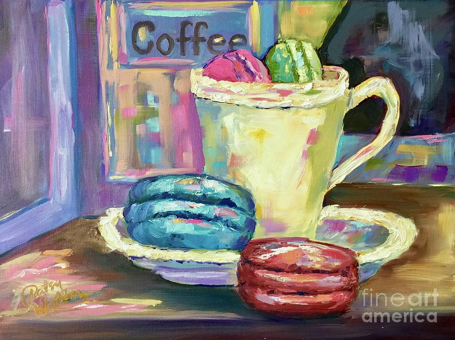 Coffee Painting - Afternoon Delight by Patsy Walton