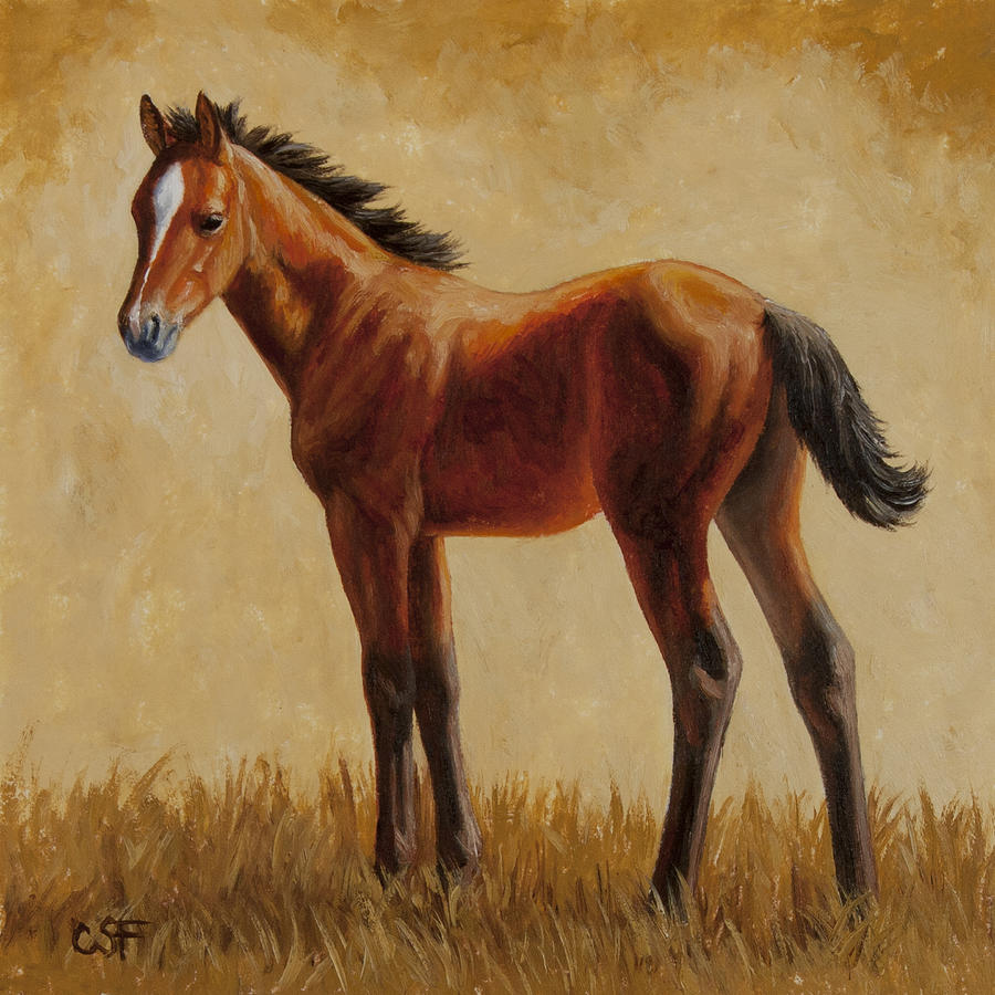 Horse Painting - Afternoon Glow by Crista Forest