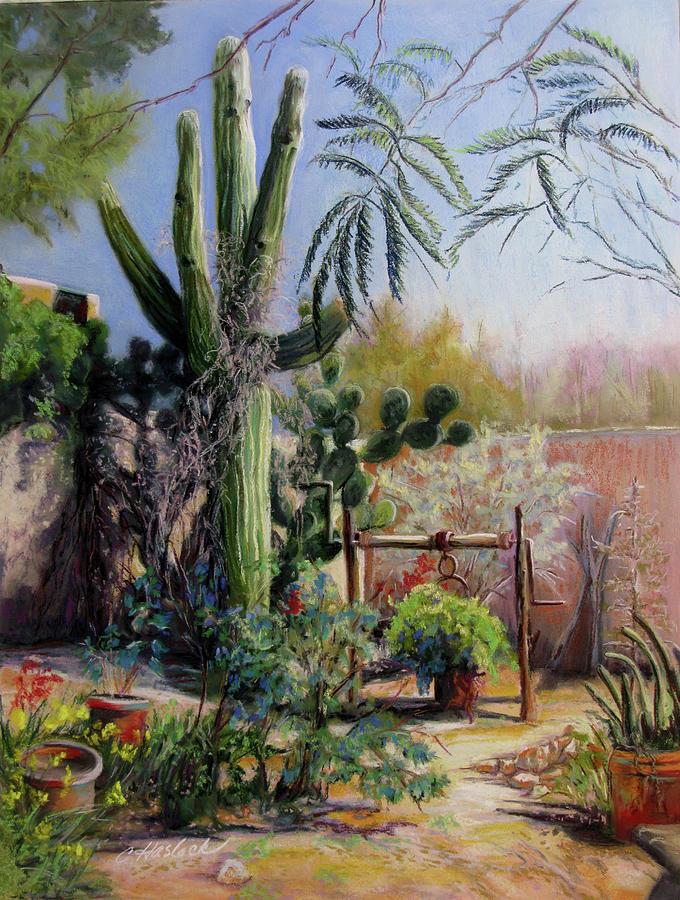 Landscape Pastel - Afternoon In The Garden by Carole Haslock