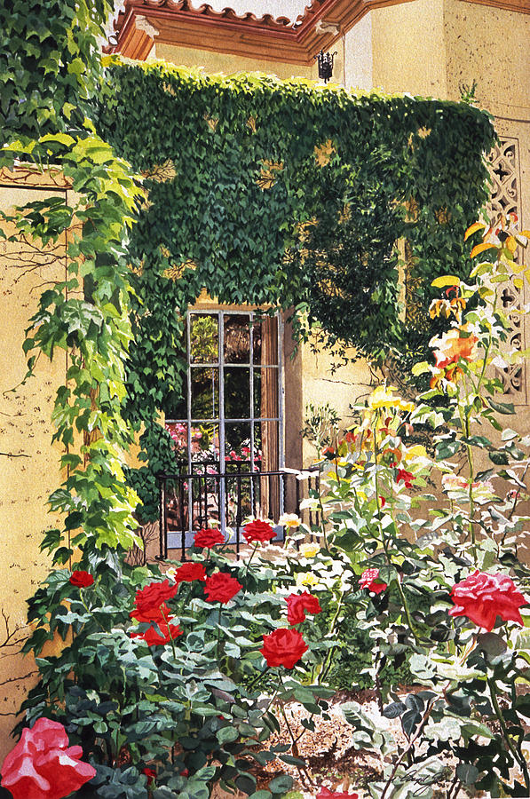 Rose Painting - Afternoon In The Rose Garden by David Lloyd Glover