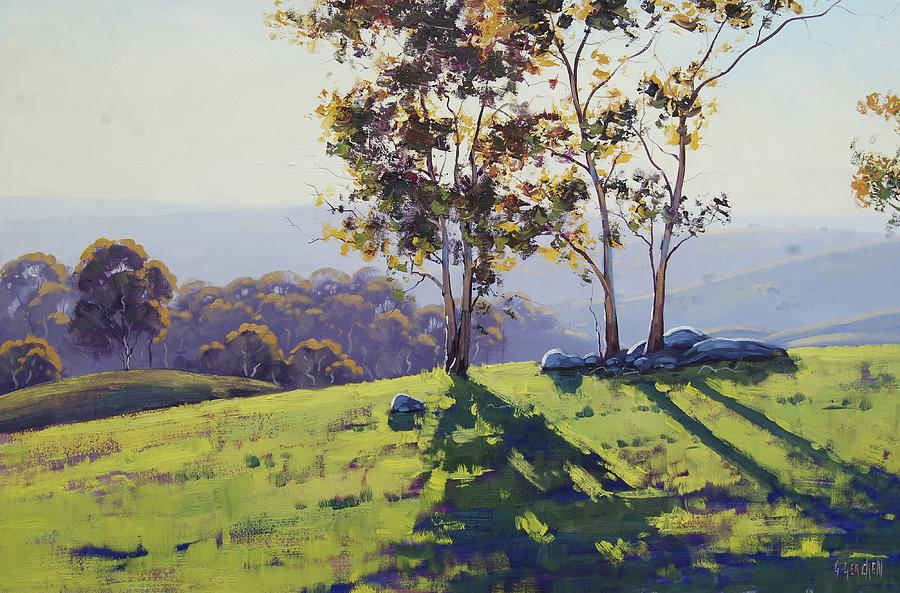 Nature Painting -  Afternoon Light Cuthill Road by Graham Gercken