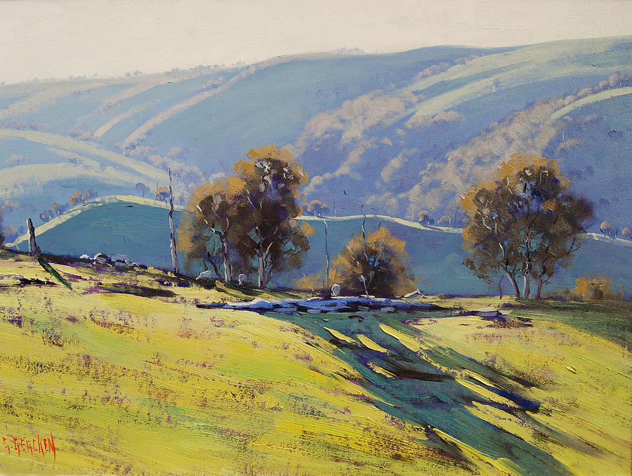 Realistic Painting - Afternoon Light Lithgow by Graham Gercken