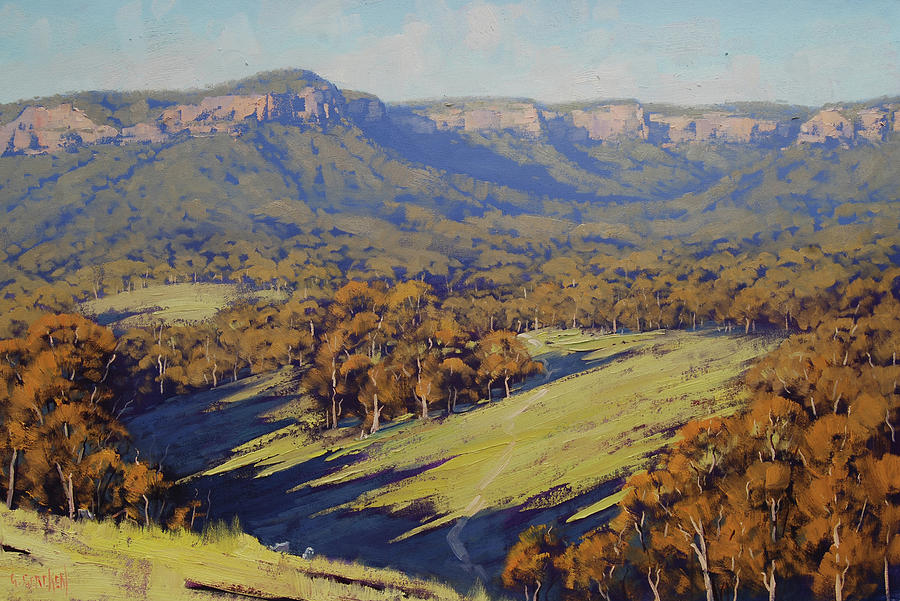 Nature Painting - Afternoon Light Megalong Valley by Graham Gercken