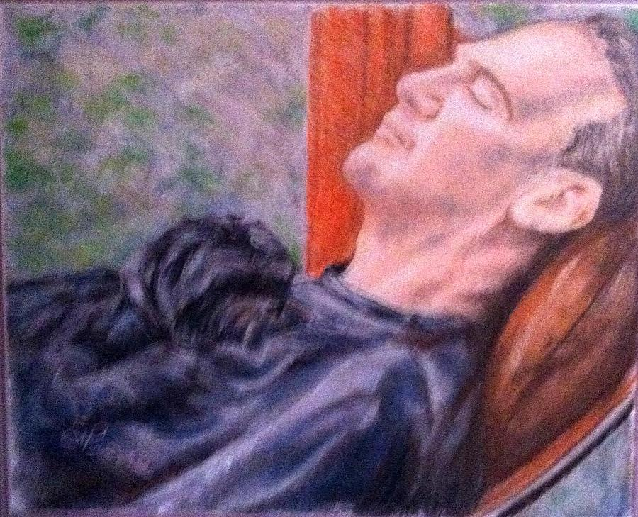 Afternoon Nap Painting by Georges St Pierre