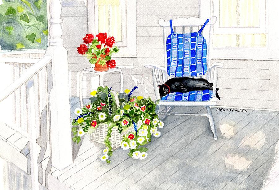 Flowers Painting - Afternoon Nap by Melody Allen