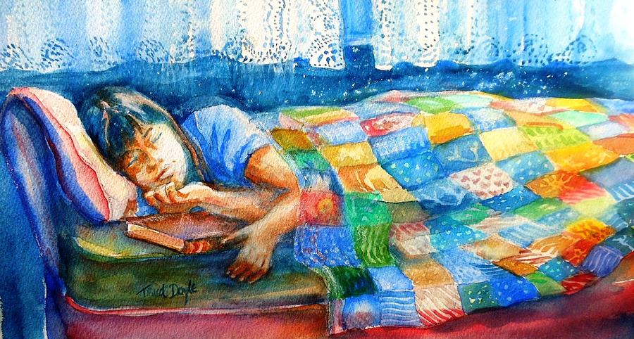 Child Painting - Afternoon Nap by Trudi Doyle