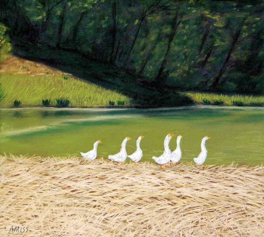 Landscape Pastel - Afternoon On Goose Pond by Jan Amiss