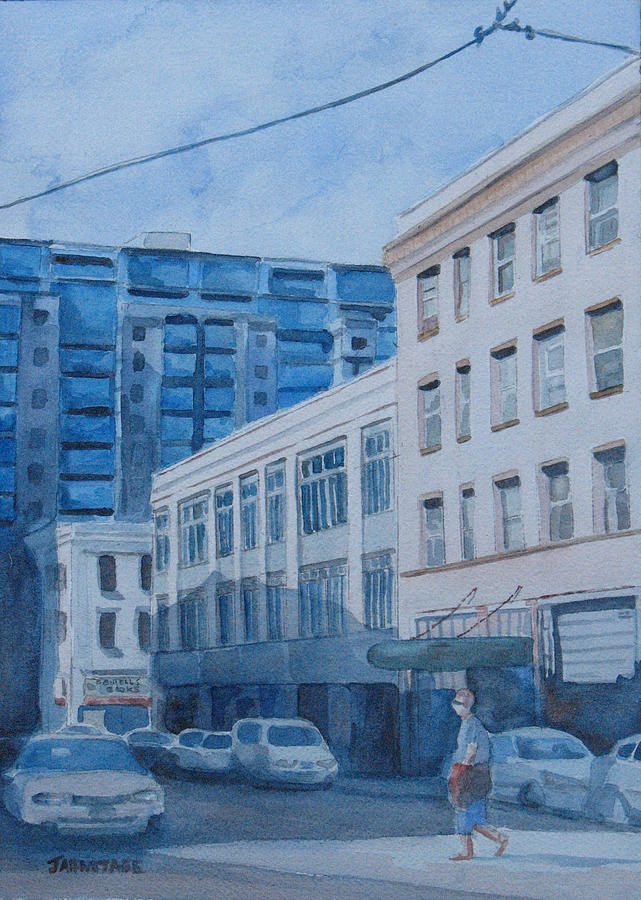 Portland Painting - Afternoon On Sw 11th Street by Jenny Armitage