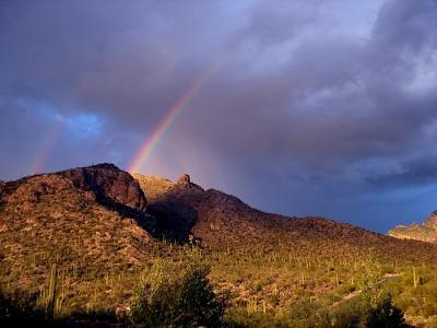 Double Rainbow Photograph - Afternoon Rain by Audrey Kanekoa-Madrid
