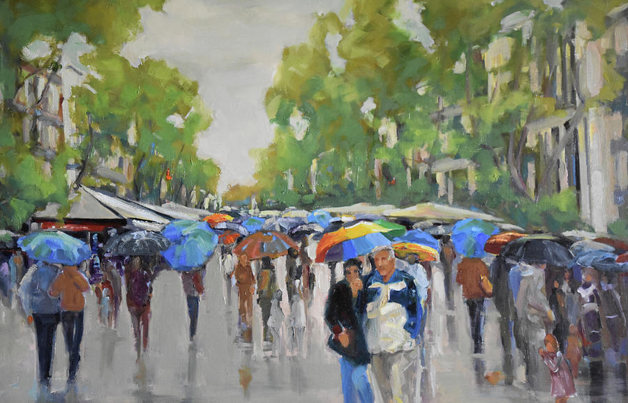 Afternoon Rain Painting by Kathryn McMahon