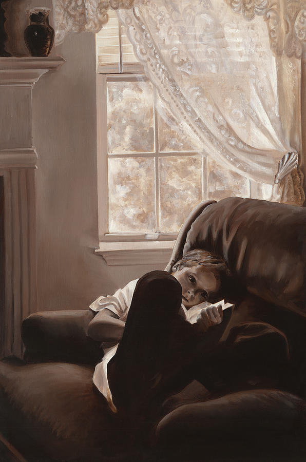 Monochromatic Painting - Afternoon Reverie by Katherine Huck Fernie Howard
