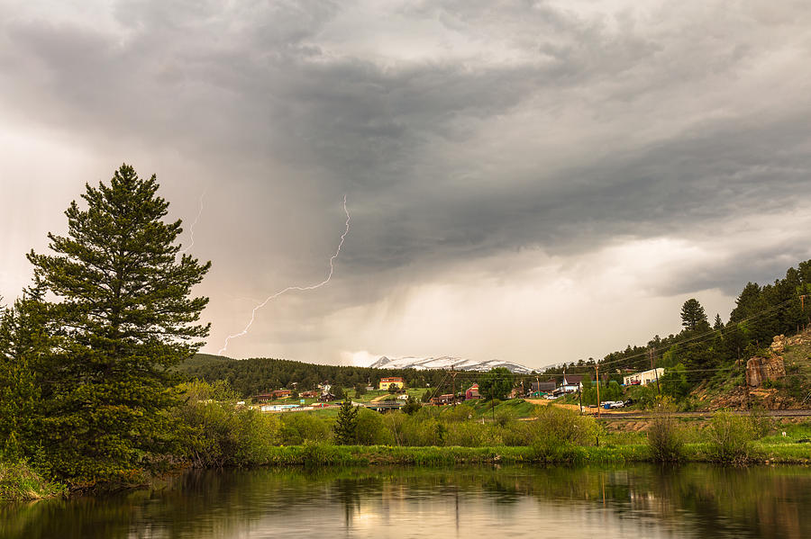 Afternoon Rollinsville Lightning Thunderstorms Photograph