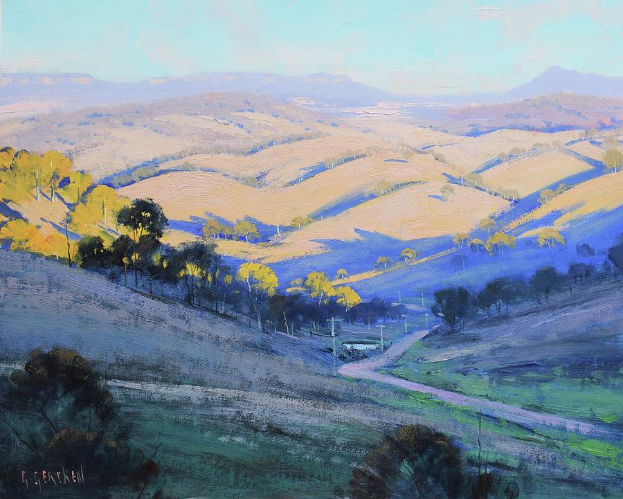 Afternoon Shadows Kanimbla Valley Painting