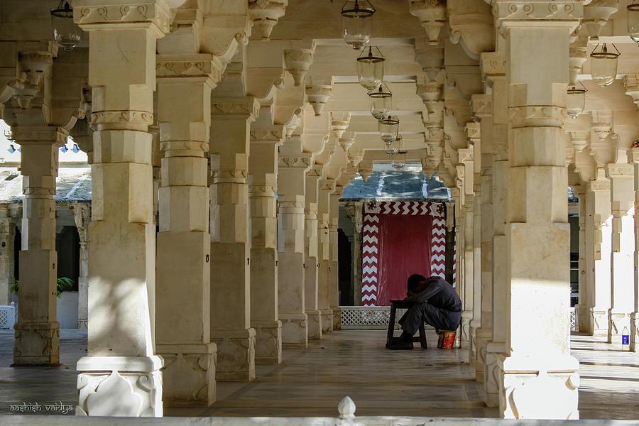 Colonnade Photograph - Afternoon Siesta by Aashish Vaidya