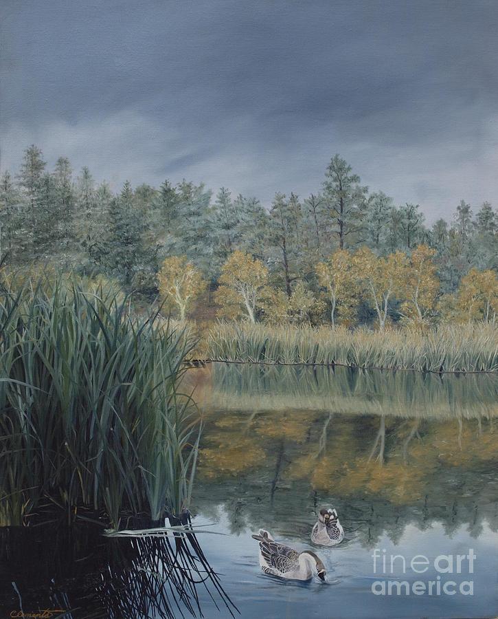 Prescott Painting - Afternoon Storm Approaching Lynx Lake Prescott Arizona by Barbara Barber