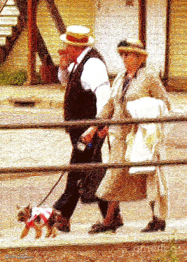 Elderly Photograph - Afternoon Stroll by Cristophers Dream Artistry