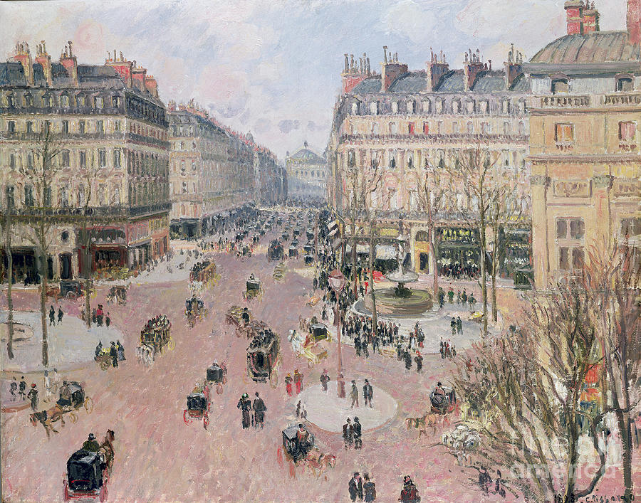 Place Painting - Afternoon Sun In Winter by Camille Pissarro
