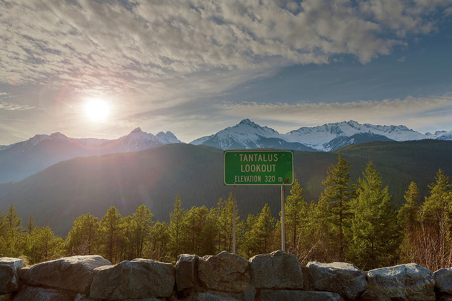 Tantalus Photograph - Afternoon Sun Over Tantalus Range From Lookout by David Gn