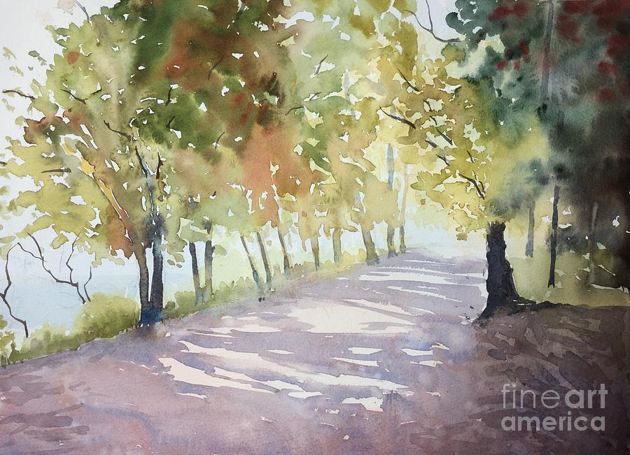 Walk Painting - Afternoon Sun by Yohana Knobloch