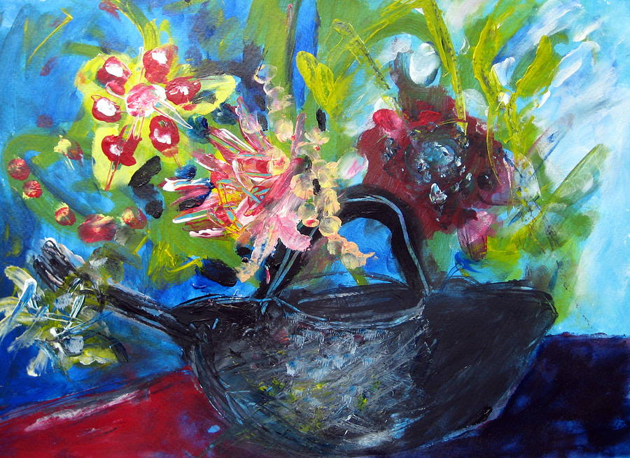 Teapot Painting - Afternoon Tea Two by Rebecca Merola