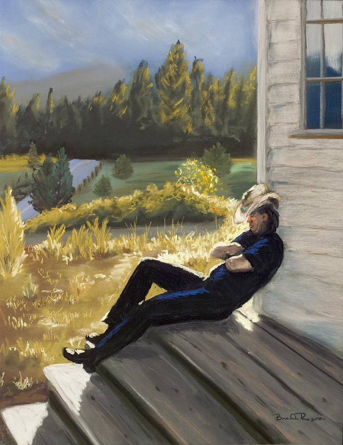 Cowboy Painting - Afternoon Tranquility by Brenda Williams