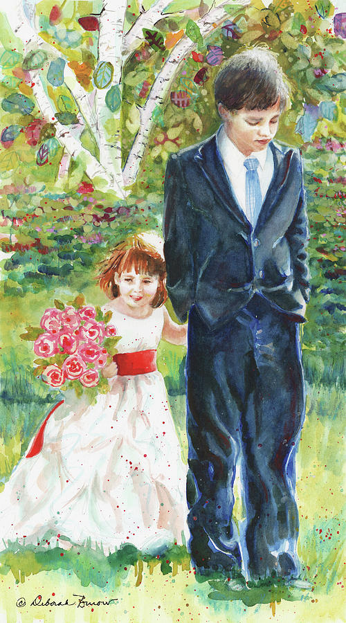 Wedding Party Painting - Afternoon Wedding by Deborah Burow