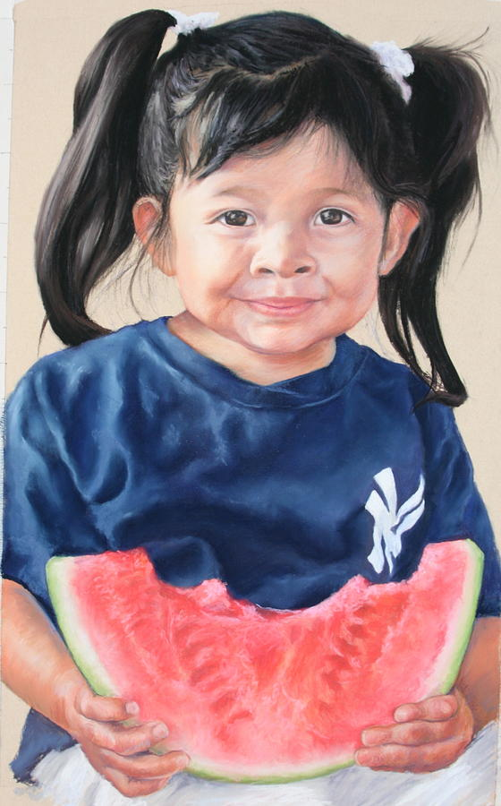 Girl Painting - Afton by Candy Maley