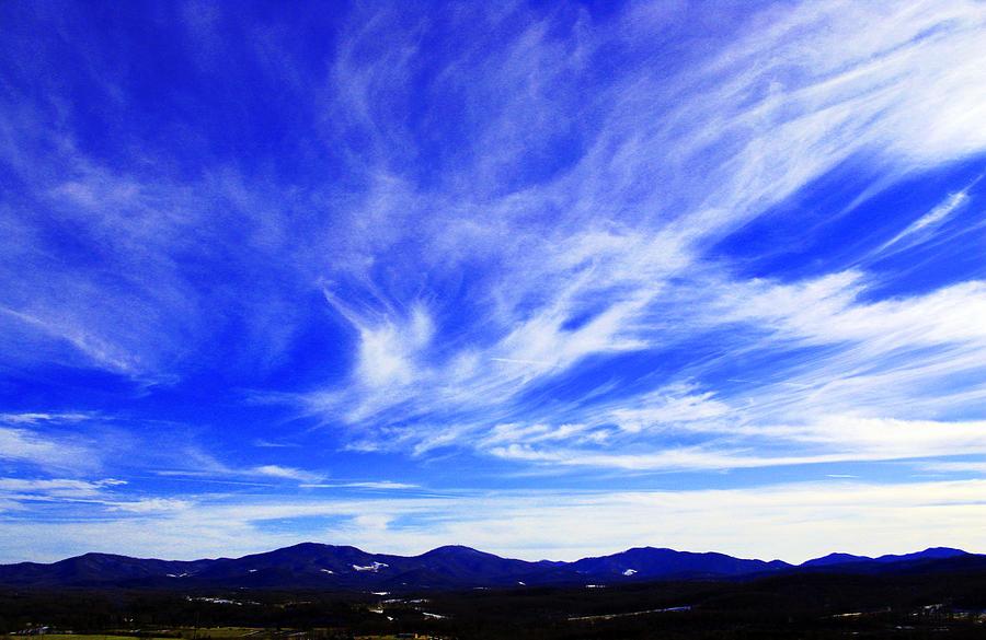 Sky Photograph - Afton Sky And Mountains I by Richard Singleton