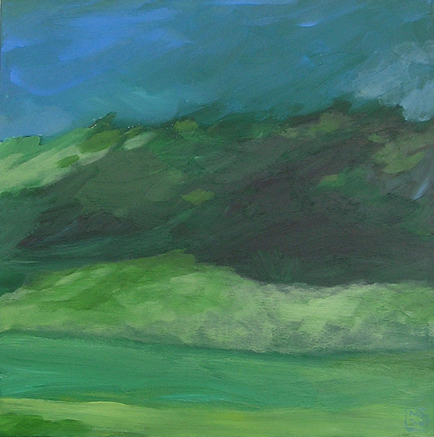 Landscape Painting - Again For The First Time by Mary Brooking