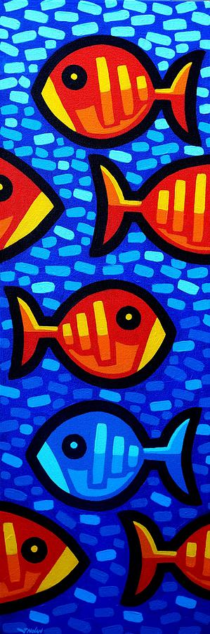 Fish. Psychedelic Painting - Against The Tide by John  Nolan