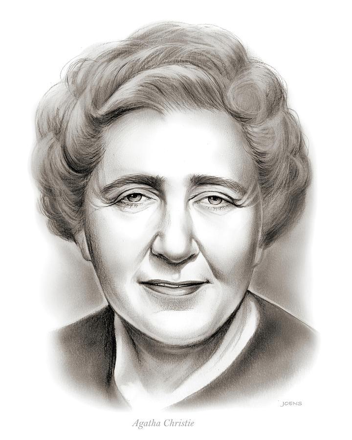 Agatha Christie Drawing