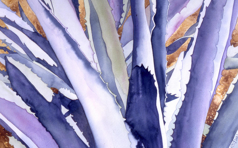 Botanical Painting - Agave 4 by Eunice Olson